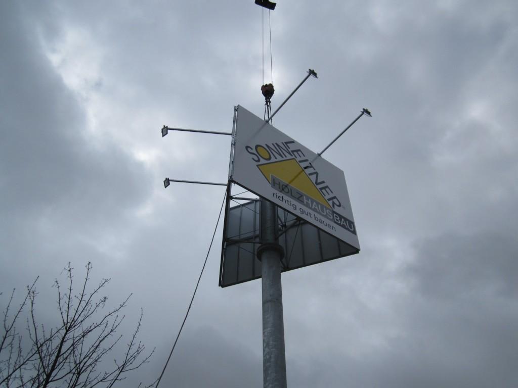 Werbemast Werbeturm Sonnleitner Ulm Merklingen