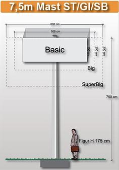7,5m-mast-viereckig-preise-fuer-werbeturm24-werbemast